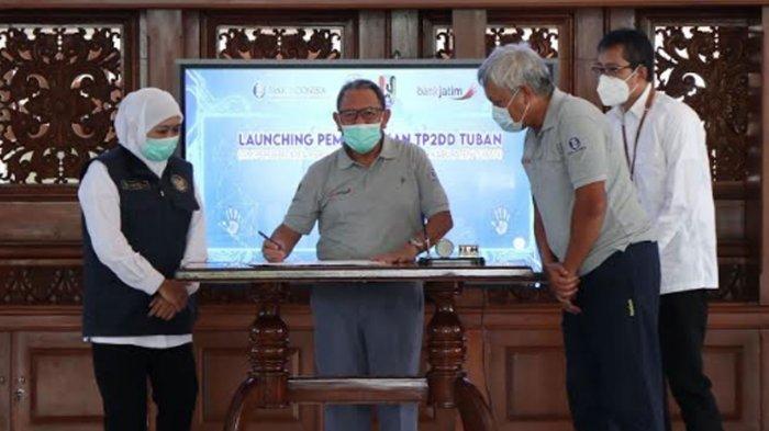 Bank Jatim Luncurkan Pembayaran Uji KIR Non Tunai Via QRIS, Dishub Tuban Menjadi Pilot Project