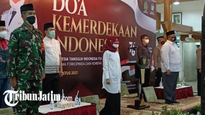 Doa Bersama Lintas Agama Sambut HUT RI Ke-76, Forkopimda Kabupaten Kediri Harap Covid-19 Hilang