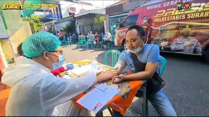 Vaksinasi Keliling Presisi Polrestabes Surabaya, Siapkan Drive Thru Kurangi Kerumunan