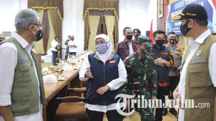 Pada Menkes dan Kepala BNPB, Khofifah Minta Arahan Turunkan Attack Rate Penularan Covid-19 di Jatim