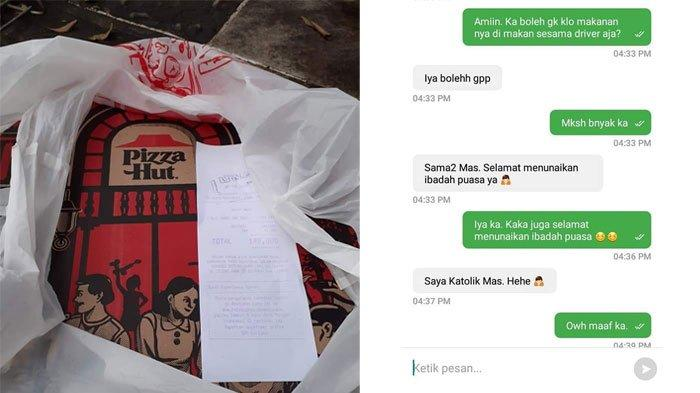 VIRAL Kisah Driver Ojek Online Dibelikan Pizza oleh Customernya yang Beda Agama untuk Buka Puasa
