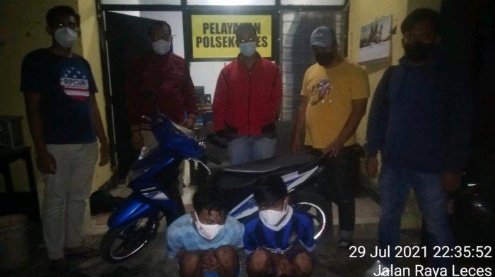 Akhir Pelarian Dua Maling Motor di Probolinggo Berakhir di Polsek Leces