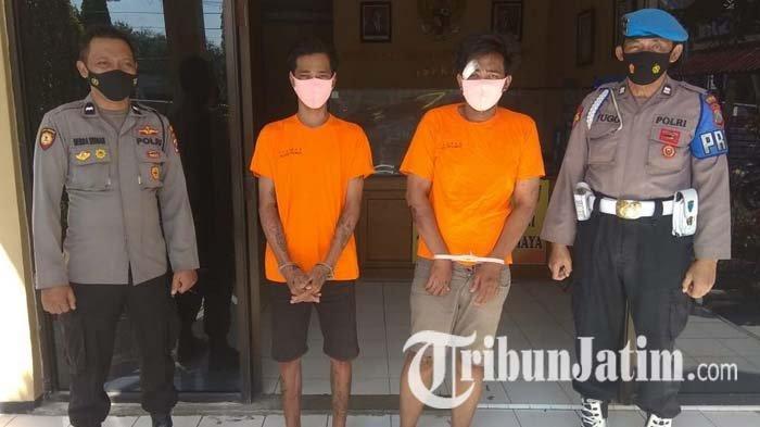 Kepergok Curi Burung, 2 Pria Surabaya Dikejar, Motornya Ditendang dan Tersungkur, Gagal Pesta Miras