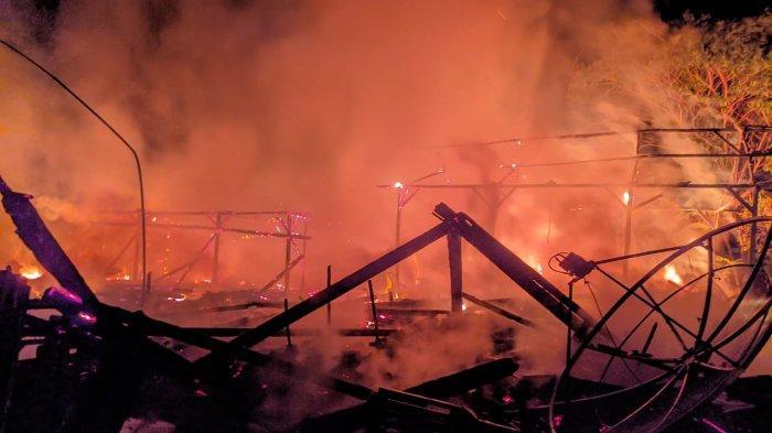 Gara-garaPuntung Rokok, Dua Rumah di Bojonegoro Ludes Terbakar