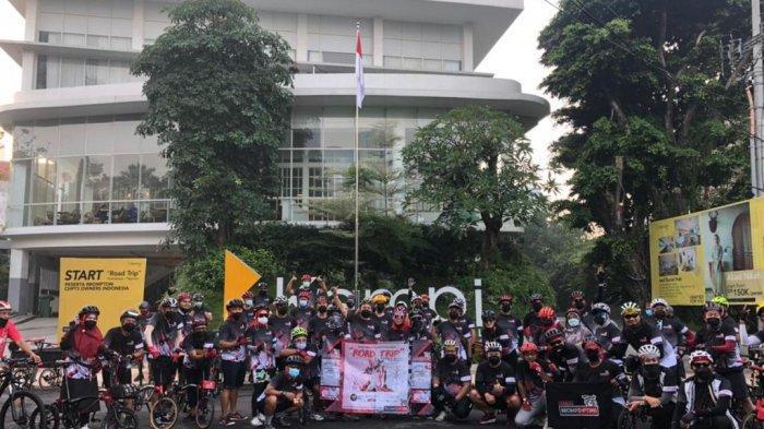 Dukung Sport Tourism, Hotel Santika Gandeng Brompton CHPT3 Owners Indonesia Trip Surabaya-Malang
