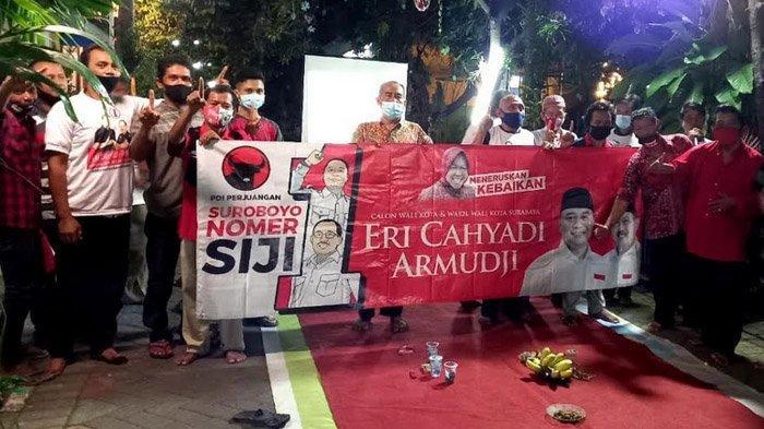 Survei Eri-Armuji di Pilkada Surabaya 2020 Unggul 6 Persen, Posko-posko di Kampung Makin Semarak