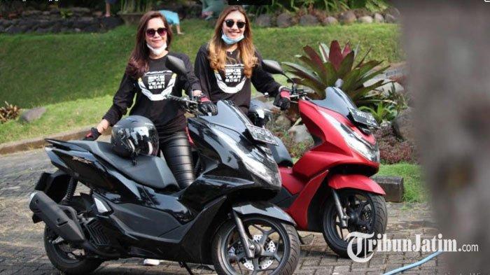 Duo Influencer Berparas Menawan Ramaikan Touring PCX 160 ke Trawas, Pesonanya Bius Peserta