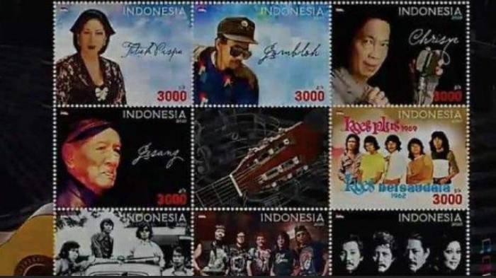 Perangko Seri Artis Diluncurkan, Ini 4 Wajah Penyanyi Ternama dan 4 Band Legendaris yang Diabadikan