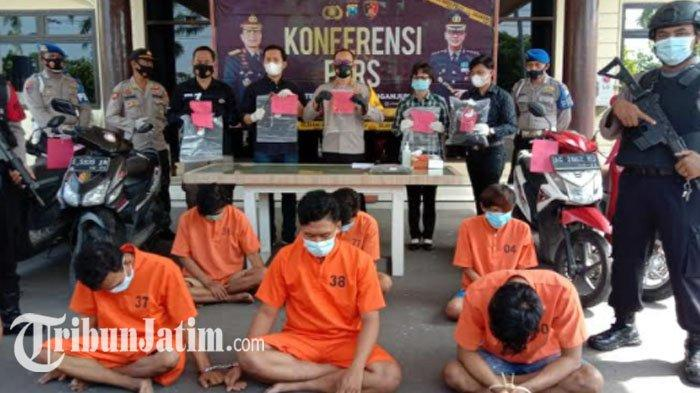 6 Pemuda Pelaku Pengeroyokan di Nganjuk Diamankan Polisi, Beraksi di Enam TKP untuk Pamer Kekuatan