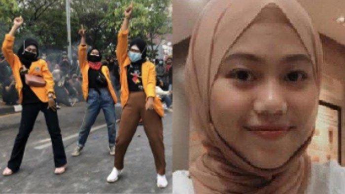Aksi Joget Tik Tok saat Demo UU Ciptaker Viral, Ternyata Para Mahasiswi Seni Tari, Siapa Sosoknya?