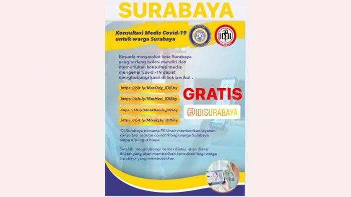 FK Unair dan IDI Surabaya Buka Layanan Konsultasi Daring Gratis untuk Warga Isoman