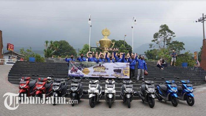 Fun Touring Generasi 125 Uji FreeGo, Yamaha Jatim Ajak Awak Media dan Blogger Jelajah Alam Trawas