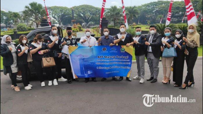 Berbagi dan Peduli, Pemkot Malang dapat Saluran Hewan Kurban dari PT BPF dan PWI