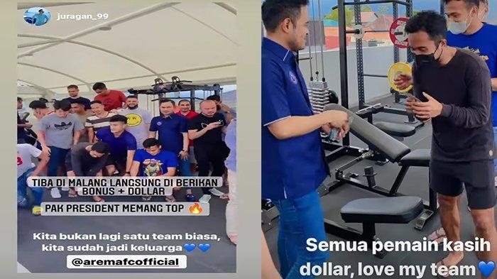 Balik ke Malang, Pemain Arema FC Dapat Bonus Uang Dollar dari Juragan 99