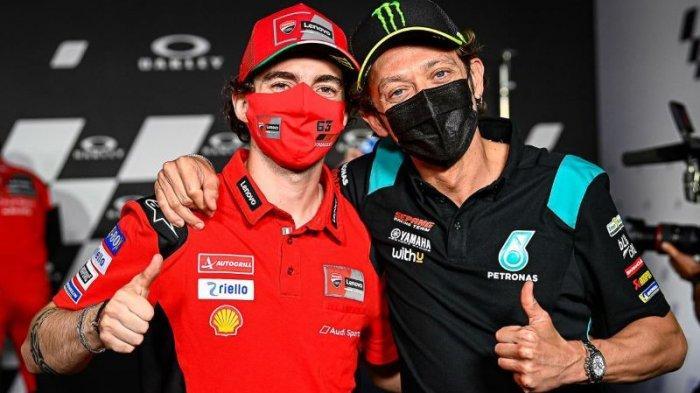 Sukses Permalukan Marc Marquez, Valentino Rossi Beri Nilai Sempurna untuk Francesco Bagnaia