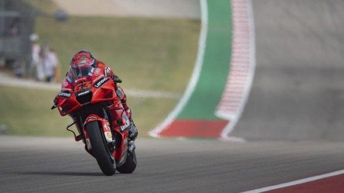 Hasil Kualifikasi MotoGP Americas 2021: Bagnaia Hattrick Pole Position, Marquez Ketiga, Rossi Buncit