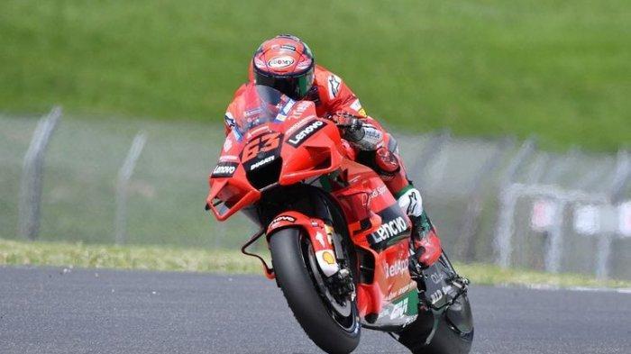 Francesco Bagnaia saat sesi kualifikasi pada MotoGP Italia 2021.
