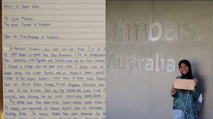 Surat 'Sakti' Gadis Gresik Soal Ekspor Sampah Australia ke Desanya, Surat ke Trump Tak Kalah Menohok