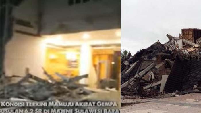 'Ada Gempa!' Jerit Lantang Warga Lari Keluar Rumah, Gempa Majene Hancurkan Kantor Gubernur: 7 Detik