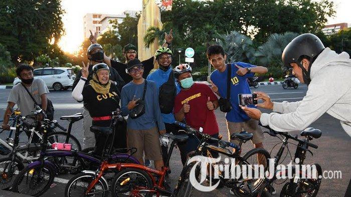 Bersepeda Fenomena Baru di Surabaya saat Pandemi, Warga Ungkap Bikin Refresh Otak Meski Jarak Pendek