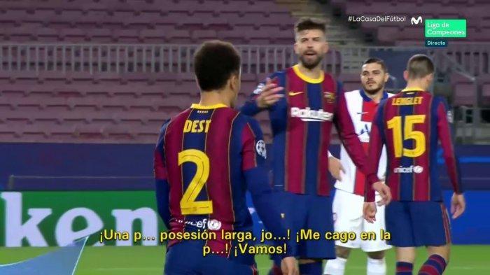 Gerard Pique dan Antonio Griezmann Saling Mengumpat Saat Barcelona Dihujani Serangan Cepat PSG