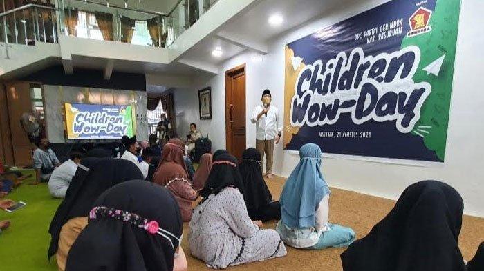 Gagas Program Children Wow Day, Gerindra Jatim Komitmen Dampingi Anak Yatim untuk Tetap Bermimpi