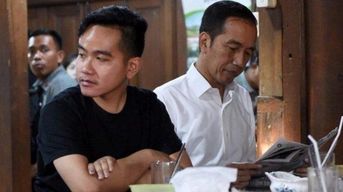 Gibran Rakabuming saat bersama Jokowi makan soto bersama di Solo