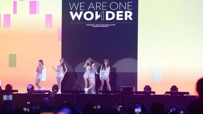Tampilkan Empat Lagu, Girlband AOA Gebrak Panggung Closing Ceremony Asian Para Games 2018