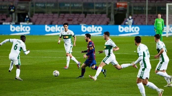 Saat Gocekan Lionel Messi Bikin Pemain Elche Terhipnotis Lawan hanya Bisa Bengong: Licin Kayak Belut