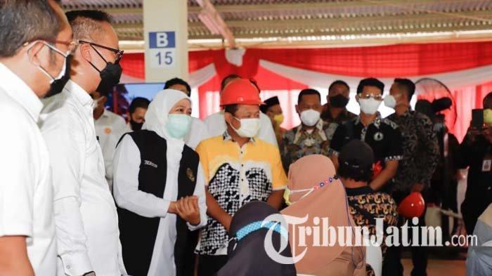 Gubernur Khofifah Cicil Vaksinasi Covid-19 untuk Industri Padat Karya Aglomerasi Surabaya Raya