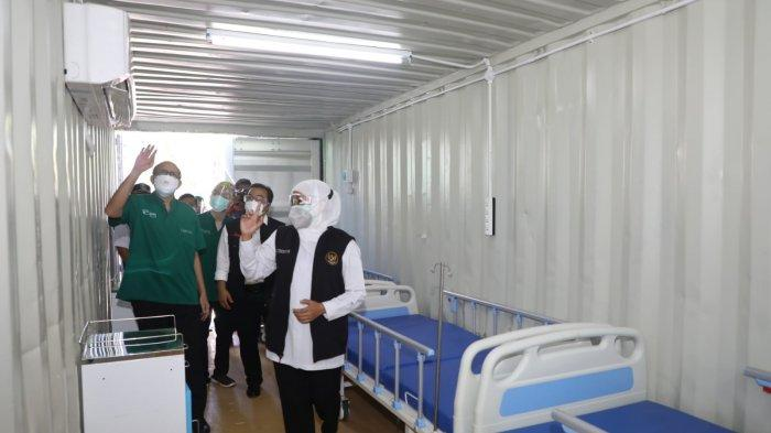 Sulap 5 Kontainer Jadi Ruang Triage Pasien RSUD dr Soetomo, Khofifah; Tetap Harus Ada Layanan Pasien