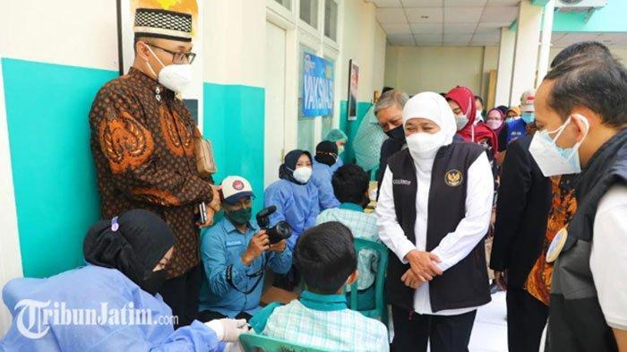 Bersama IKA Unair, Khofifah Dorong Percepatan Vaksinasi di Sidoarjo, Kebut Dosis Dua serta Lansia