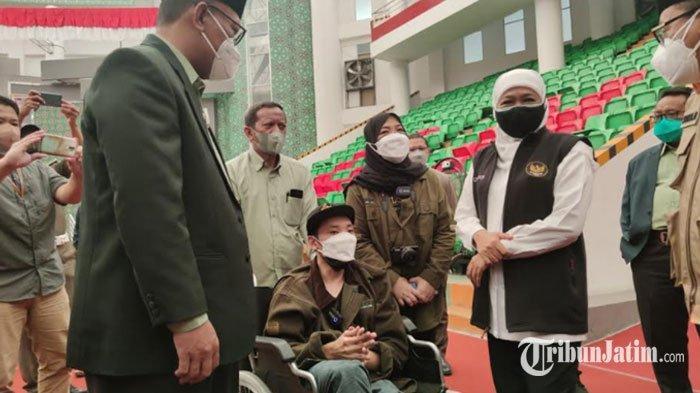 Difabel Jatim Digelontor Vaksin Sinopharm, Gubernur Khofifah: Khusus 18 Tahun ke Atas