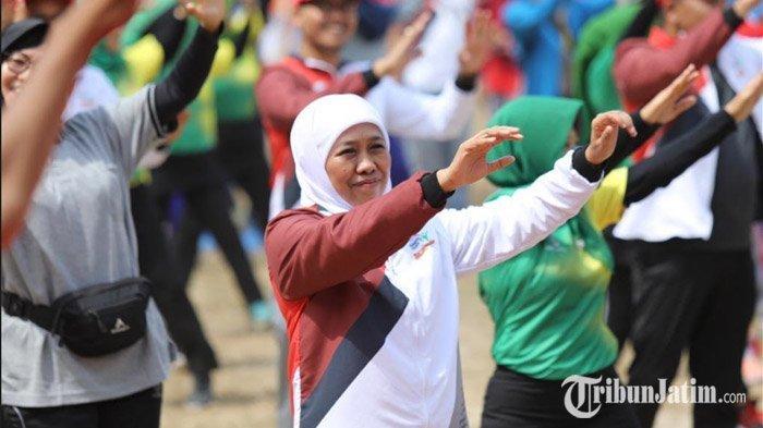 Luncurkan Jatim Seger, Gubernur Khofifah Ajak Warga Jatim Olahraga Kapan Saja dan Dimana Saja