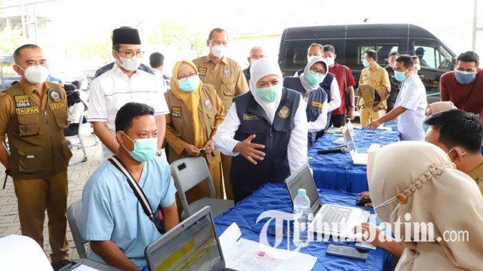 Gubernur Jatim Khofifah Dorong Vaksinasi Covid-19 di Bangkalan Madura Dikebut