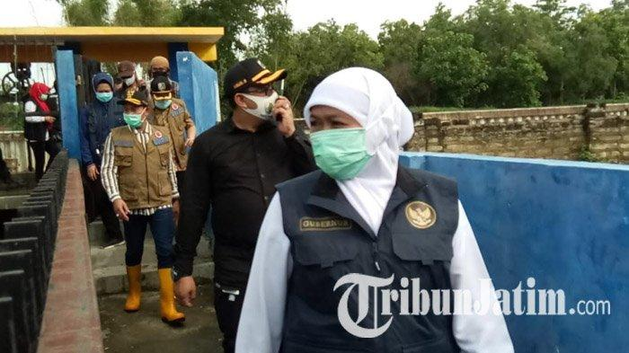 Sejumlah Wilayah Sampang Langganan Banjir, Gubernur Jatim Khofifah Sebut Ada Dua Pompa Bermasalah