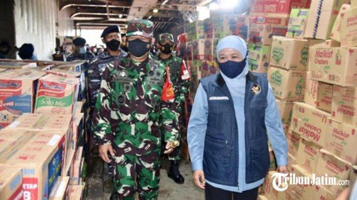 Jawa Timur Kirim 45 Truk Bantuan untuk Korban Bencana di NTT, Dilepas Gubernur dan Pangkoarmada II
