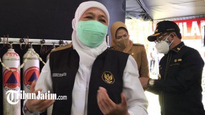 Gubernur Khofifah Anjurkan Pasien Covid-19 Isolasi Terpusat, BOR di Jawa Timur Sudah Turun