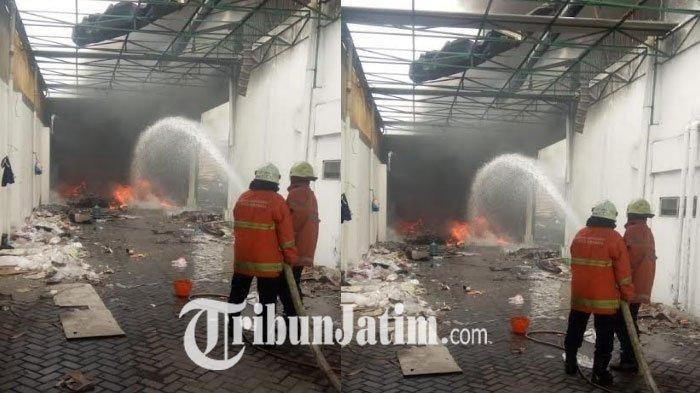 Gudang Spare Part Motor di Surabaya Ludes Terbakar, Asap Tebal Hitam Sempat Gegerkan Warga