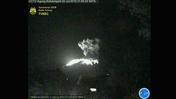 Gunung Agung Erupsi, Siaga Level III, Jarak Aman 4 Km
