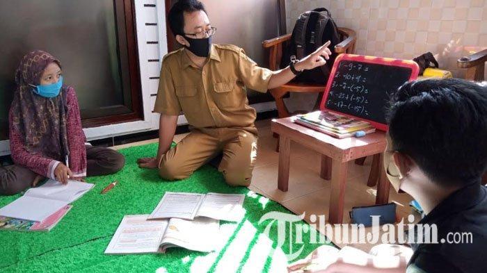 1 Siswa Tulungagung Positif Covid-19, Dindikpora Masih Dukung Kunjungan Guru di Wilayah Sulit Sinyal