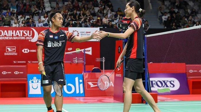 Menangi Derbi Merah Putih, Hafiz/Gloria Kantongi Tiket Babak Semifinal Thailand Masters 2020
