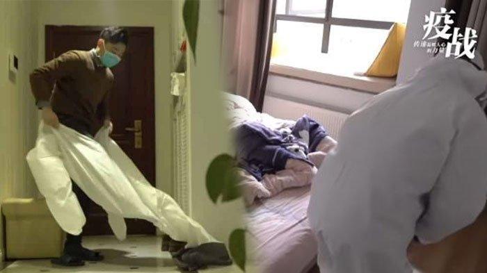 VIRAL Video Suami Sendirian Rawat Istri Terinfeksi Virus Corona, Nekat Mendekat Meski Dibentak