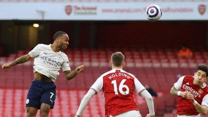 Gol Tunggal Raheem Sterling Antar The Citizens Bungkam Arsenal, Manchester City Berkuasa di Puncak