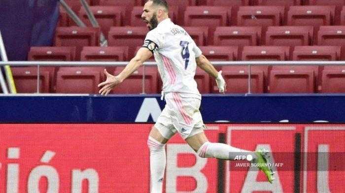 Hasil Liga Spanyol - Derbi Madrid Berakhir Imbang, Gol Benzema Selamatkan Los Blancos dari Kekalahan