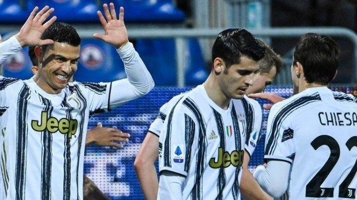 Hasil Liga Italia - Mengamuk, Cristiano Ronaldo Cetak Hat-trick, Juventus Menang Telak atas Cagliari