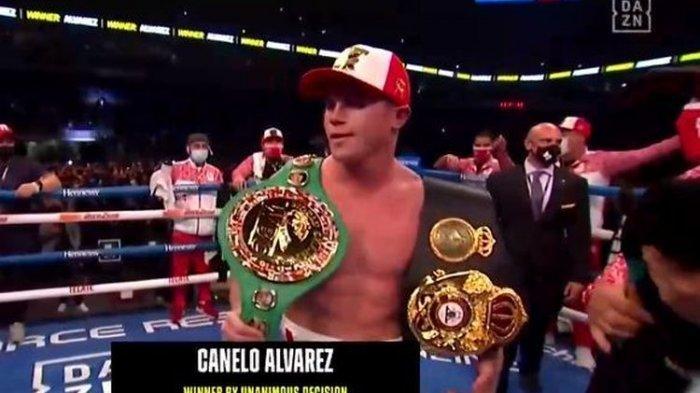 Hasil Tinju Dunia - Canelo Alvarez Menang TKO Atas Billy Joe Saunders