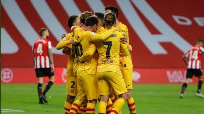 Hasil Bilbao Vs Barcelona - Messi Brace, Blaugrana Juara Copa Del Rey, Trofi Perdana di Era Koeman