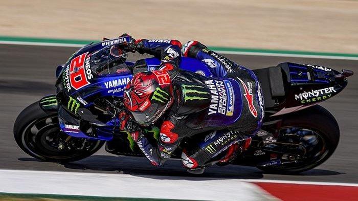 Hasil MotoGP Portugal 2021 - Quartararo Menang, Marc Marquez Finis ke-7, Rossi Jatuh