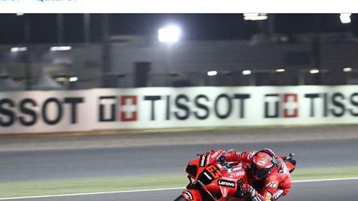 Hasil Kualifikasi MotoGP Qatar 2021 - Duel Ducati Vs Yamaha, Francesco Bagnaia Pole, Rossi Memukau